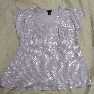 Lane Bryant silver sequin sexy party top